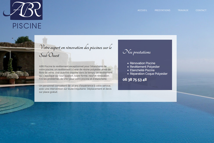 ABR Piscine site web