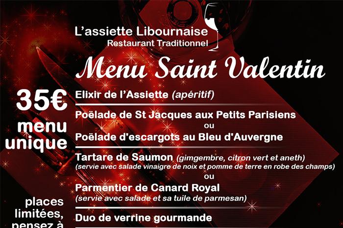l'Assiette Libournaise Saint Valentin