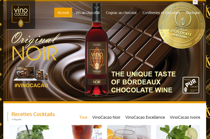 VinoCacao Site Web Français